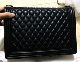 Wholesale More American - 100% real pictures Classic Women Handbag Diamond Lattice Shoulder Bags Lady Fashion Chains Totes more colour Large 30cm