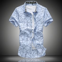 Wholesale Wholesale Plaid Shirts For Men - Wholesale- 2017 New Fashion Casual Shirts Mens Summer Brand Clothing Cotton Breathable Business Short sleeves Shirts For Men Plus Size 7XL