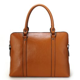 Wholesale Handbag Orange - handbags women shoulder bags Fashion designer totes purses ladies leather bags female business bolsas