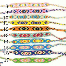 Wholesale Cotton Braid Bracelet - Nepal national wind braided bracelets Ethnic cotton hand-woven bracelets Geneva Friendship Bracelets free shipping