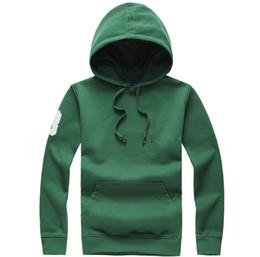 Wholesale Hood Men S Hoodies Cardigan - 2018 Hot sale Mens polo Hoodies Pullover Sweatshirts autumn winter casual with a hood sport jacket men's designer Brand RL hoodies