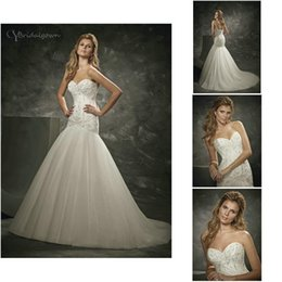 Wholesale Divina Wedding Dress - Strapless Sweetheart Neckline Hand Beaded Tulle Mermaid Custom Made 16242 N24 2016 Divina Sposa Bridal Dresses Wedding Gowns