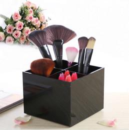 Wholesale Lipstick Make Up Display - New Listing Make Up Box Acrylic Make Up Jewelry Organizer 4 Grid Cosmetics Lipstick Makeup Storage Box Holder Case Display