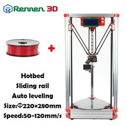 Wholesale Machine Level - High Precision 3 D Delta 3D Printer Pro Auto Level K800 Kossel Reprap Prusa 3D-Printer Machine Kit With Hot Bed Injection rostoct