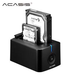 Toptan Satış - Toptan - ACASIS USB 3.0 SATA3 Sabit Disk Yerleştirme İstasyonu, 2,5 inç veya 3,5 inç HDD Muhafaza Klonlama Teksir Kutusu sabit disk muhafazası için nereden