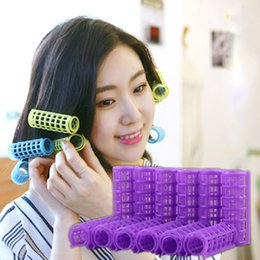 Wholesale Large Hair Curlers Rollers - Magic Hair Curlers DIY Hair Salon Curlers Rollers Tool Soft Large Hairdressing Tools Plastic Hair Rollers 6 8 10 12pcs