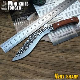2019 facas de sobrevivência forjada Novo forjamento Nepal mini facão Faca de Sobrevivência completa Tang Kukri Faca Bowie VTH88 Faca de lâmina fixa acampamento ao ar livre afiada Mini faca facas de sobrevivência forjada barato