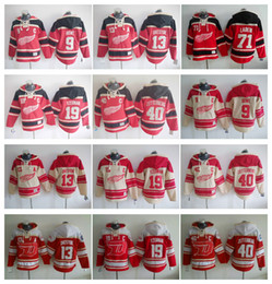Wholesale Jacket Black Wings - Detroit Red wings Hockey Men Jerseys 9 Gordon Howe 19 Steve Yzerman 13 Pavel Datsyuk 40 Henrik Zetterberg Hoodie Hooded Sweatshirt Jackets