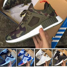 Wholesale Womens Orange Camo - 2017 New Men & Womens top quality ultra boost NMD XR1 Glitch Black White Blue Camo Pack ultraboost man casual shoes sports shoes size 36-45