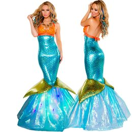 Wholesale Party Dress For Big Women - Women's Sexy Mermaid cosplay stage clothes Halloween costume Adult Carnival Fantasia Fancy party dressing up for lady woman big girls