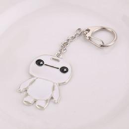Wholesale Key Chain Order - Trendy Zinc Alloy Key Chain Necklace Set Big Hero 6 Beast Corps Baymax Fat Doll White Pendant Min Order 5 pcs lot Bulk Package