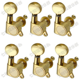 Wholesale Tuning Keys For Electric Guitars - 6R Golden Electric Guitar tuner strings button guitar accessories for Machine Heads Guitar Parts Tuning Pegs Keys