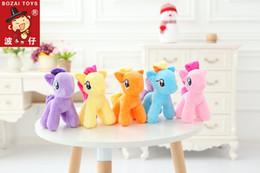Wholesale Dolls Little Pony - 18cm High Cute Rainbow Horse Pony Toys Cartoon Toys Hobbies Stuffed Dolls Movie Stuffed Plush Animals Little Horse BaoLi