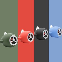 Wholesale Aircraft Model Engine - Portable Mini-Bluetooth Wieless Speaker Creative Aircraft jet engine Subwoofer plane model phone Stereo Support TF card USB MP3 Music playe