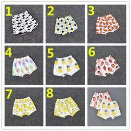 Wholesale Toddler High Waist Shorts - 8 Design Kids INS Fruits PP Pants Baby Toddlers Boy Girl Strawberry Pineapple Geometric Figure Pants Shorts Leggings K7216