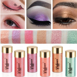 Wholesale Full Si - 6 colors on the card Si LAN good Mermaid Eye Shadow Pink Diamond eye shadow glitter powder high mineral makeup