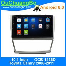 Radio bluetooth para camry online-Ouchuangbo gps navigation car audio para Toyota Camry 2006-2011 soporte HD Touch screen 3G WIFI android 6.0