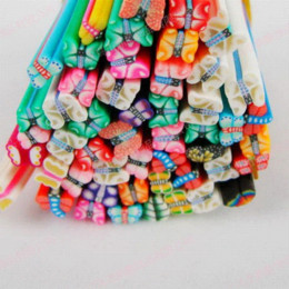 Wholesale Animal Fimo Canes - 100pcs,Animals style Nail Art Canes, fimo 3D Nail Stick Decoration Polymer Clay ,cat,bear shaped ,freeShipping Rhinestones & Decorations