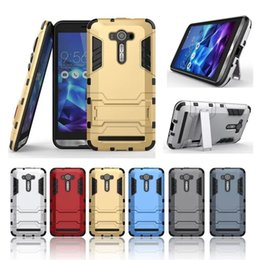Wholesale Laser Bracket - For ASUS Zenfone 2 Laser Case Rugged Combo Hybrid Armor Bracket Impact Holster Protective Cover Case For ASUS Zenfone 2 Laser ZE550KL