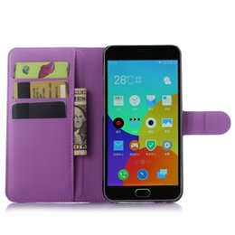 Wholesale Note2 Leather Cover - Wholesale-Meizu M2 Note case luxury 9 color litchi texture flip leather case cover for Meilan Note2 wallet style magnetic protective shell