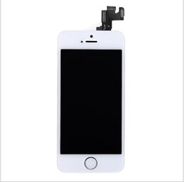 Wholesale Menu Screens - NEW!Black For iPhone 5S LCD Display Touch Screen Digitizer+Front Camera+Menu Button+Bezel Frame Full Assembly Free Shipping+Track No