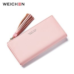 Wholesale Big Ladies Wallet - Big Capacity Women Wallets Ladies Clutch Female Fashion Leather Bags ID Card Holders Cell Phone Cash Wallet Ladies purses bolsas
