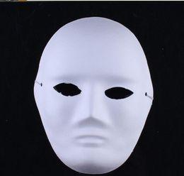 masquerade rosto pintura homens Desconto Eco amigável homem mulher DIY rosto branco Máscaras Mão terno pintada por Masquerade Halloween Party máscaras cosplay em branco máscaras