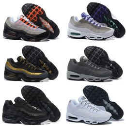 Wholesale Authentic Boots - New 2017 Running Shoes 95 Mens Retro Cushion White Maxes 95 OG Sport maxes 95 Shoes Authentic Sports 95s Boots Sneakers Maxes