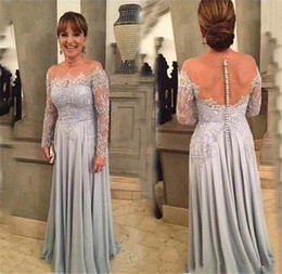 Wholesale Long Length Free Size Dresses - Mother of the Bride Evening Dresses Plus Size 2016 Free Shipping Vestidos De Noite Longos Sexy Backless Prom Dress with Long Sleeves