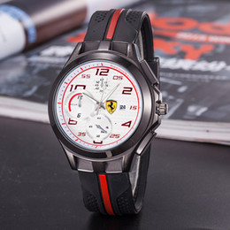 Wholesale Eyes Pins - 2017 new Italy top brand watch F1 Sports car watches calendar three eyes men sports Men's Watches Relogio fashion Casual luxury Watch