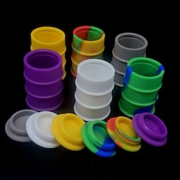 Wholesale Food Drums - 26ml Silicone Containers Food Grade Silicone Nonstick Barrel Drum Shape Container wax vaporizer dabber For Oil dry herb herbal