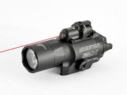 Tático Marcação X400U LED Lanterna Tocha Luz Com Laser Vermelho Venda Quente de