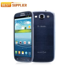 Wholesale Galaxy S3 Blue - Free DHL shipping Original Samsung Galaxy S3 i9300 i9305 Cell phone Quad Core 8MP Camera NFC 4.8'' GPS Wifi 3G Unlocked Phone Refurbished