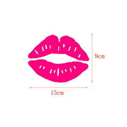 Wholesale Vehicles Accessories - Car Lips Styling Sticker Auto Vehicle Exterior Accessories Sex Lips Decor Motor Motorcycle Laptop Notebook Personalized Paster Stick