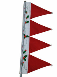Wholesale Decorative Curtain For Doors - Door Window Drape Panel Christmas Decorative Curtain Home House Decorations for Xmas Party New Year Santa Claus Hat Cap Valance Sheer Curtai