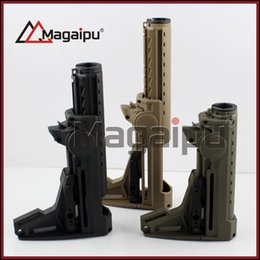 Wholesale Stock For Aeg - Magaipu ERGO F93 Pro buttstocks Position Collapsible PTS Stock For AR15 M16 Type Training With AEG Buffer Tube