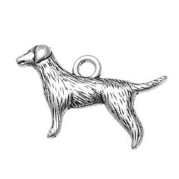 Mignons charms bon marché en Ligne-24 * 15mm Argent Antique Plaqué Nouveau Animal Mignon Chien Pet Charm Vente Pas Cher Bijoux Charms Bracelet Cadeaux 20pcs