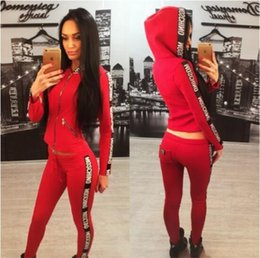 Wholesale Womens Tracksuits Sale - Hot Sale pink Women's Tracksuits spring style sweat shirt Print tracksuit women Long Pants Pullover Tops Womens set Women Sport Suits