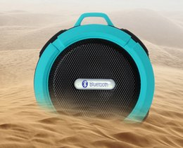 Wholesale Sports Mini Box Sound Speaker - 10PCS LOT Outdoor Sports Dustproof Bluetooth Speaker Sound Box 3D Surround IP7 Waterproof Subwoofer Stereo Support TF Card with Holder Hook