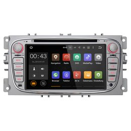 Wholesale Double Din Navigation Android - Joyous Double 2 Din 7 inch Quad Core Car DVD Player For Ford Focus Android 5.1 GPS Navigation Radio 3G WIFI AUX Multimedia System Audio