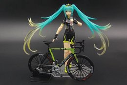 Wholesale Miku Racing - New hot sale anime figure toy figma 307 Hatsune Miku racing miku 2015 teamukyo support ver 15CM gift for children