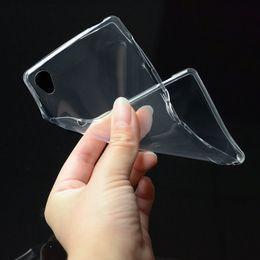 Cas de sony z2 en Ligne-0.3mm Transparent Gel TPU Cas Pour Sony Xperia Z2 L50W E4 E4 C4 C5 M4 Aqua M5 Doux Clair Téléphone Couverture Arrière
