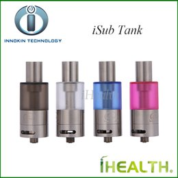 Wholesale Innokin iSub Tank ml Sub ohm Atomizer with Japanese Organic Cotton Wicking head Vertical Deep Coil System Original