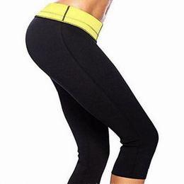 Wholesale Slimming Leggings Shaper - Wholesale-2016 hot sale shapers pants women slimming body shaper tummy control panties pant stretch neoprene leggings HJ