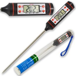 Wholesale Digital Thermometer Cooking Probe - Digital Cooking Food Meat Thermometer sensor Probe kitchen BBQ 4 Buttons thermometers