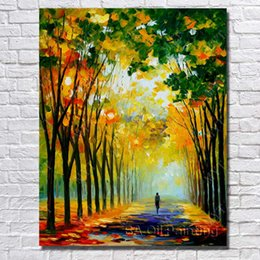 Wholesale High Quality Wall Paintings - High Quality Landscape Wall Art Hand painted Knife Oil Painting Modern Canvas Art Home Decor No Framed