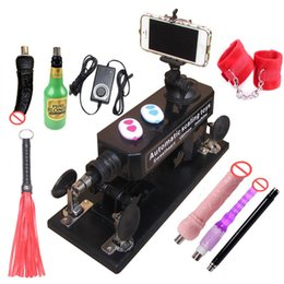 Wholesale Dildo Whips - Automatic Sex Machine Gun Set for Men  Women Love Machine with Masturbation Cup, Big Dildo,Adult Game Sex Handcuffs and Leather Whip etc