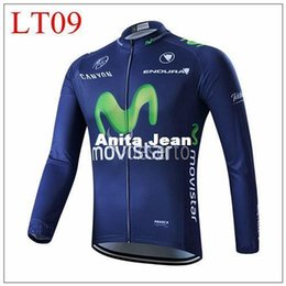 Wholesale Long Movistar Jersey - 2015 Movistar Tour de France Cycling outdoor sports Professional team cycling Jersey  long sleeves cycling jersey XS-4XL size