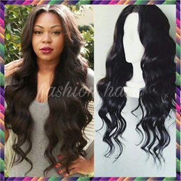 Wholesale Deep Part Lace Front - Free part 130 150 density human hair full lace wigs lace front wigs virgin glueless cheap human lace wig for black women