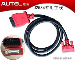 Wholesale Maxidas Pro - 100% Original AUTEL J2534 908PRO OBDII Main Cable Test Cable Maxidas MS 908 PRO OBD 2 Cables